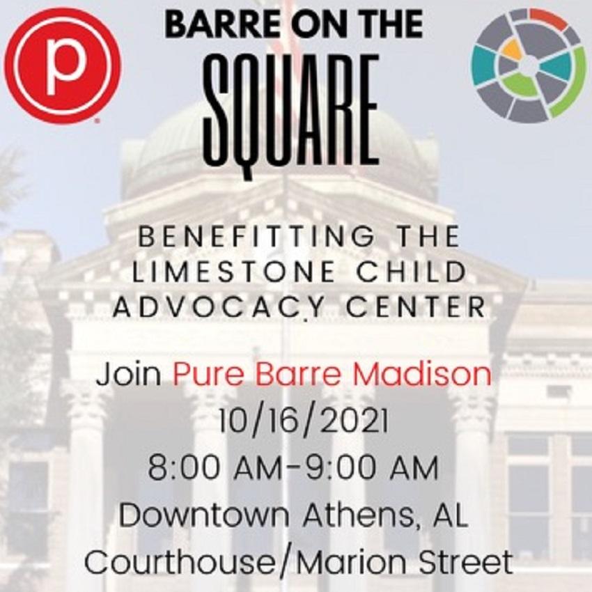 Barre on the Square benefiting Limestone Child Advocacy Center