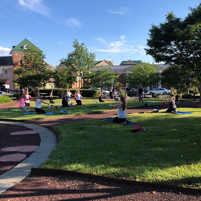 Pure Barre Community Class on the Green