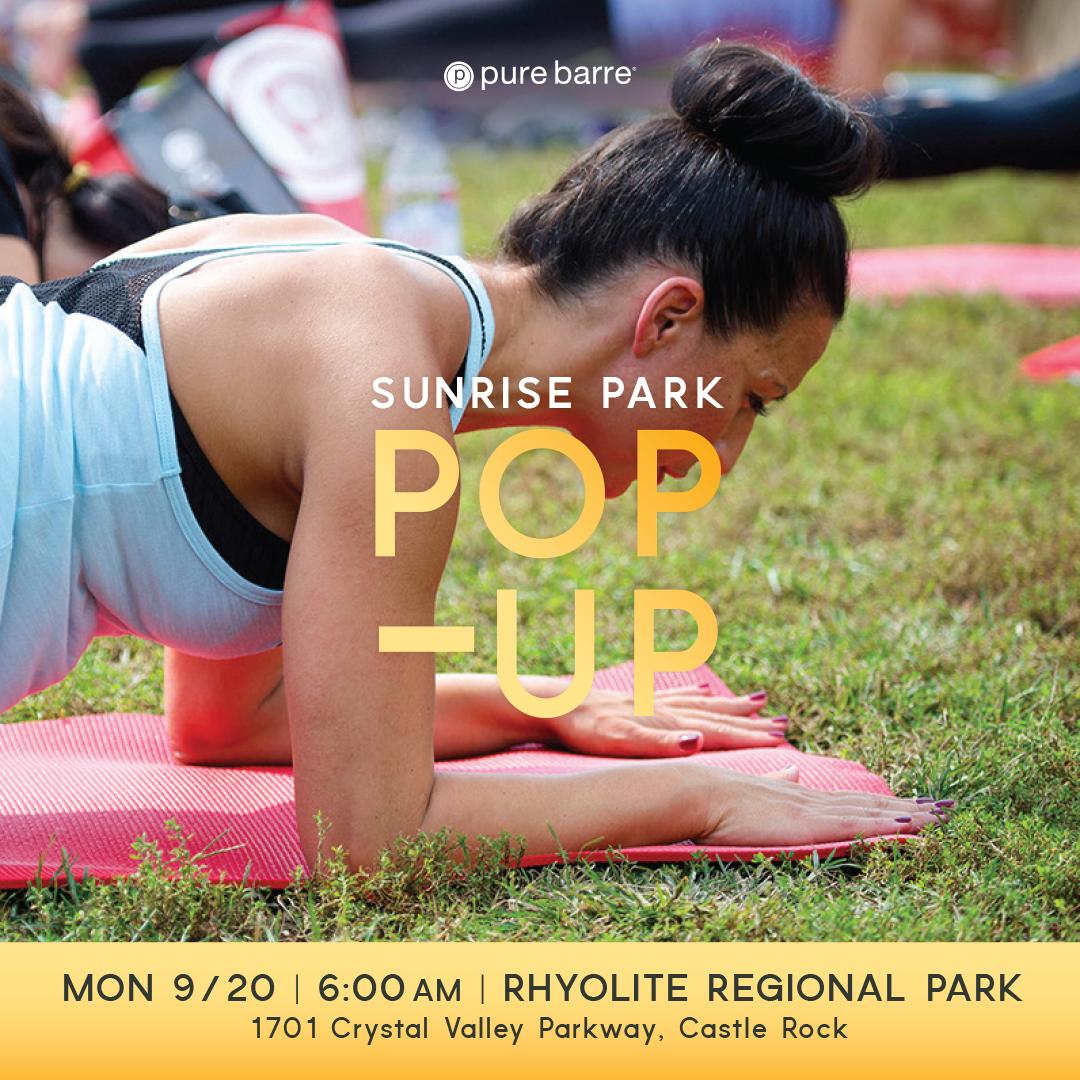 Sunrise Pop Up at Rhyolite Park