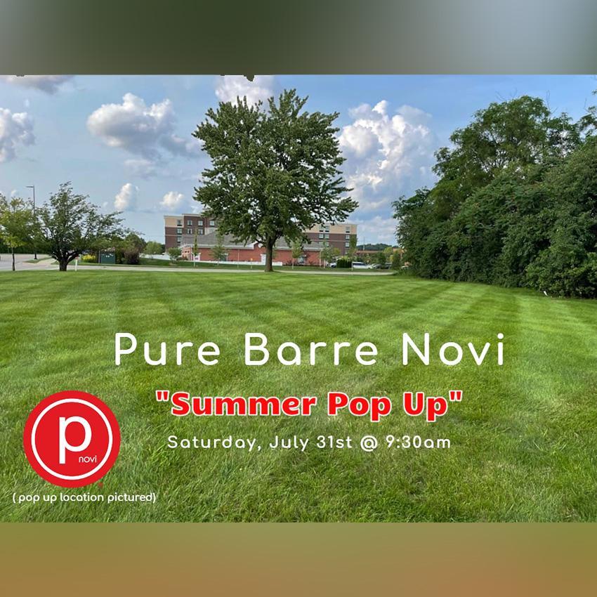 Summer Pop Up @ Pure Barre Novi!